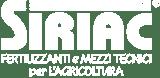 Logo Bianco Siriac Fertilizzanti e Mezzi tecnici per l'agricoltura